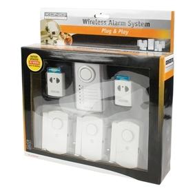 Syst me alarme sans fil konig avec 6 capteurs porte fenetre aervi - Securiser porte fenetre ...