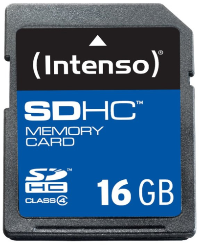 Carte Memoire SD HC 16GB Intenso