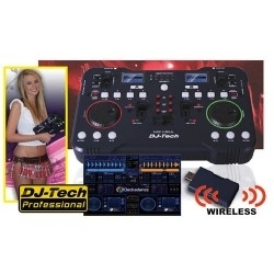 Console de Mixage DJTech Mix Free Sans Fil - Controleur Wifi Media Player