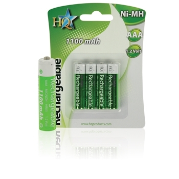Lot de 4 Batteries Rechargeables AAA R3 NIMH HQ 1,2V 1100 mA