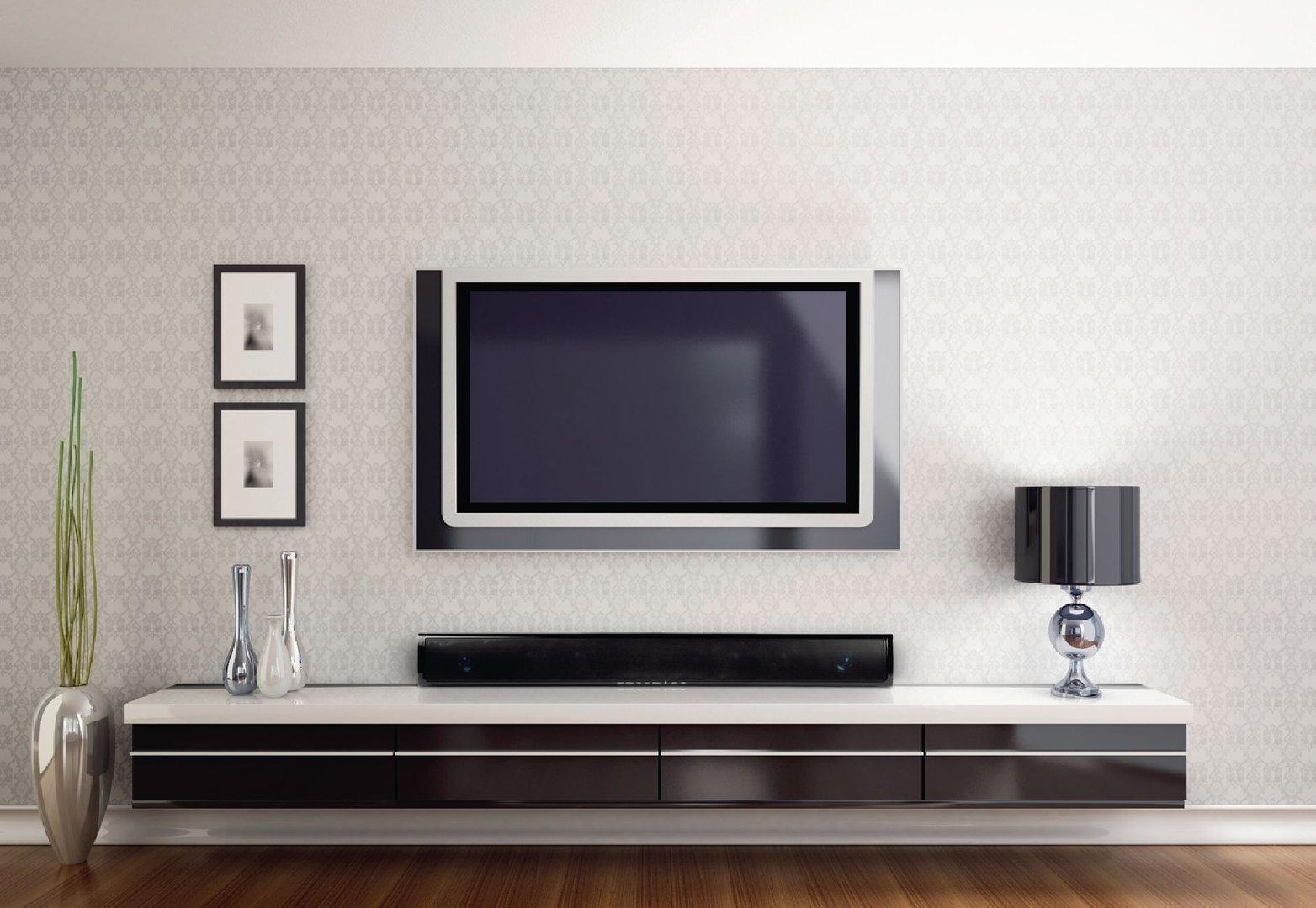 barre de son noir piano soundbar 2 1 hav sb400 300w 60w rms. Black Bedroom Furniture Sets. Home Design Ideas