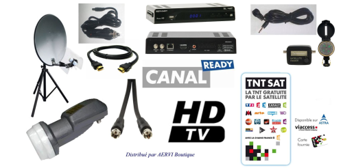 Ensemble Satellite Kit Camping TNTSAT (Astra 19,2°E)
