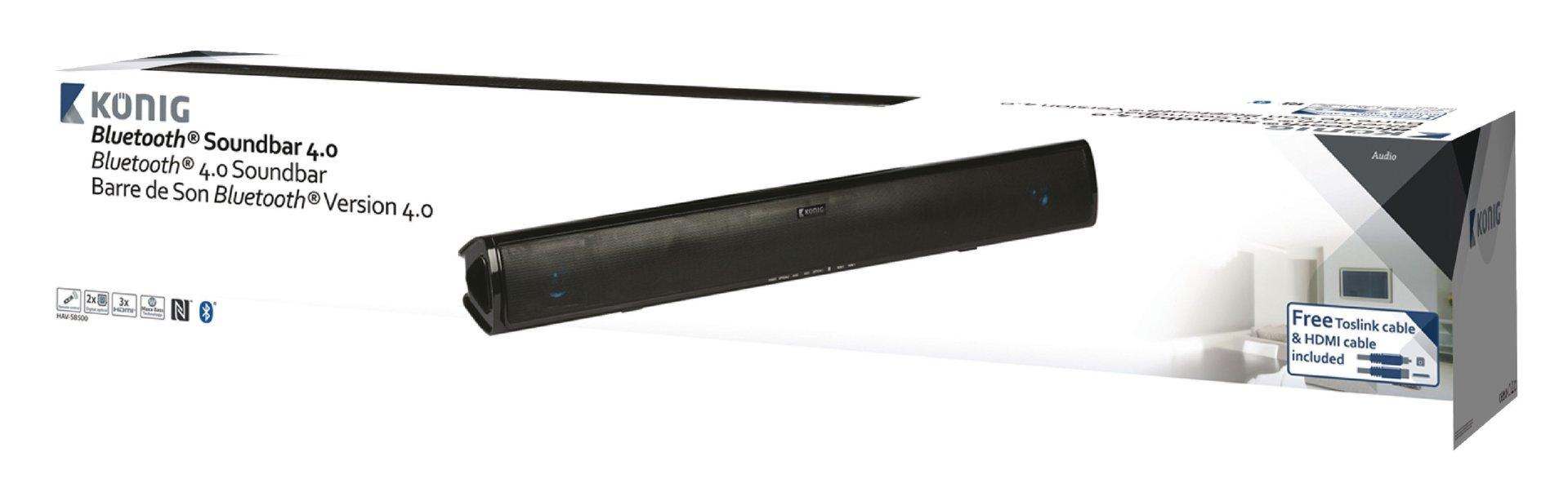 barre de son soundbar 2 1 bluetooth 4 0 300w 60w rms aervi. Black Bedroom Furniture Sets. Home Design Ideas