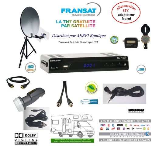 Ensemble Satellite Kit Camping FRANSAT