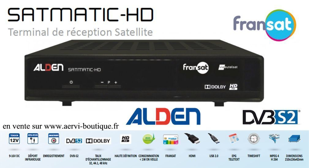 satmatic hd d codeur fransat hd pour parabole auto alden. Black Bedroom Furniture Sets. Home Design Ideas