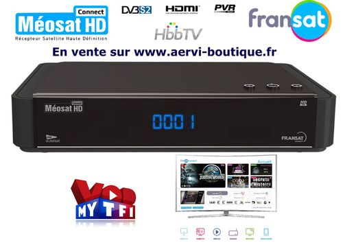 Récepteur satellite MEOSAT HD FRANSAT Connect  PVR USB HDMI