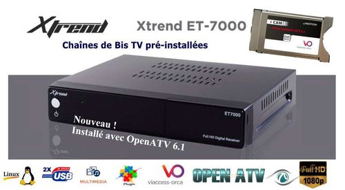 Xtrend ET7000 Récepteur Satellite Full HD + Cam Viaccess