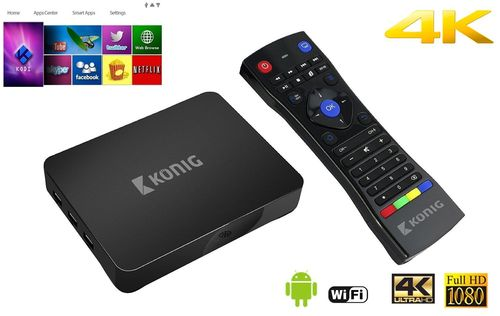 Box de streaming Android 4K 3D, 5G, Wi-Fi König