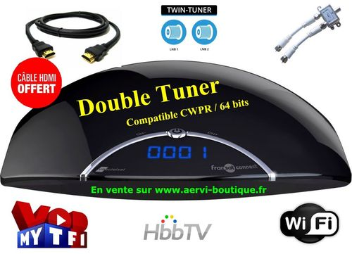 Récepteur satellite MAYA HD Twin FRANSAT Connect  PVR USB