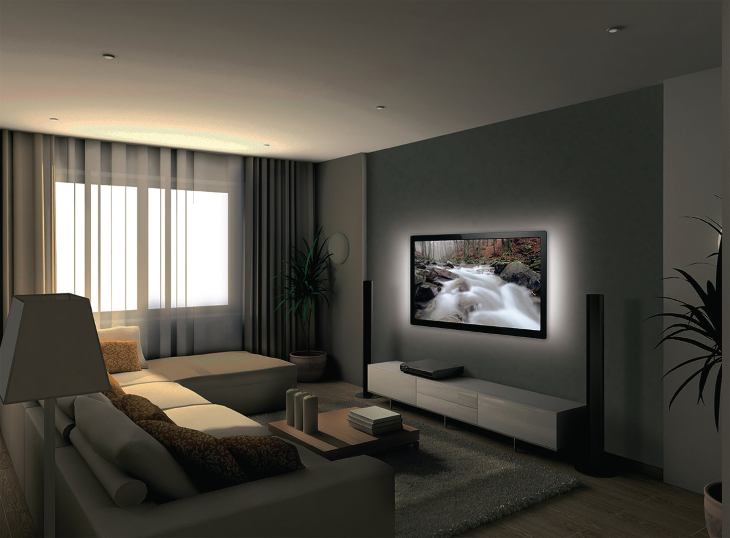 bande led lumineuse pour tv led 192 lm 1800 mm blanc froid aervi. Black Bedroom Furniture Sets. Home Design Ideas