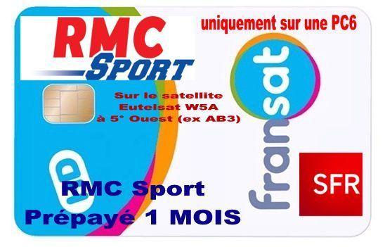 Offre Prepayee Rmc Sport 1 Mois Via Fransat Aervi Boutique